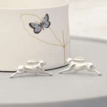 72 Baby Hare Studs - sil