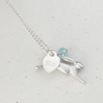 72 Childs Hare Necklace - sil