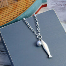 72 Fishermans Pearl Necklace - sil