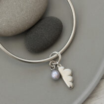 72 Every Cloud Bangle - sil