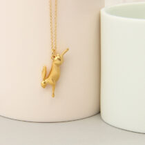 72 Golden Hare Pendant - light